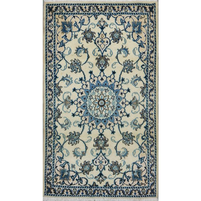 """https://www.armanrugs.com/   2' 11"""" x 4' 11"""" Beige Nain Hand Knotted Wool Authentic Persian Rug"""