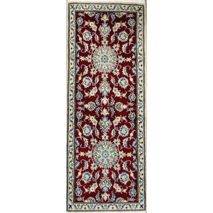"https://www.armanrugs.com/ | 2' 5"" x 6' 4"" Red Nain Hand Knotted Wool Authentic Persian Rug"