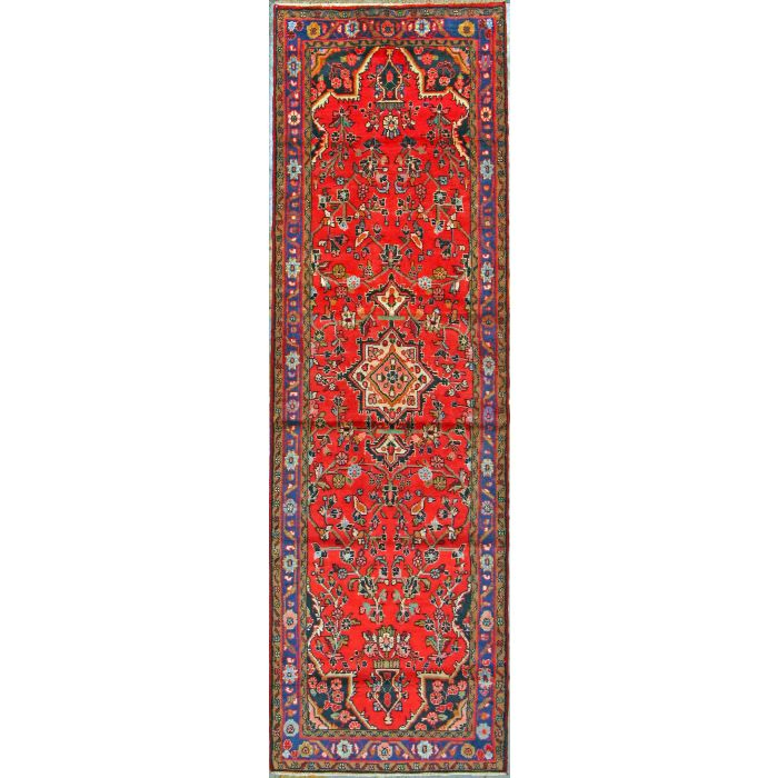 "https://www.armanrugs.com/ | 2' 11"" x 9' 2""  Hamadan Hand Knotted Wool Authentic Persian Rug"