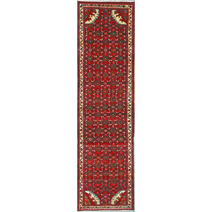 """https://www.armanrugs.com/   2' 7"""" x 9' 6""""  Hamadan Hand Knotted Wool Authentic Runner Persian Rug"""