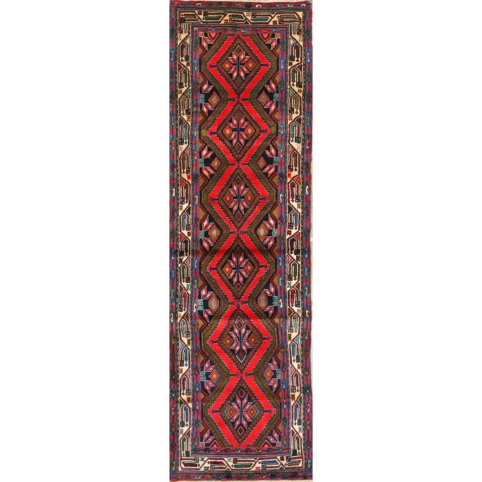 "https://www.armanrugs.com/ | 2' 7"" x 9' 0""  Hamadan Hand Knotted Wool Authentic Persian Rug"
