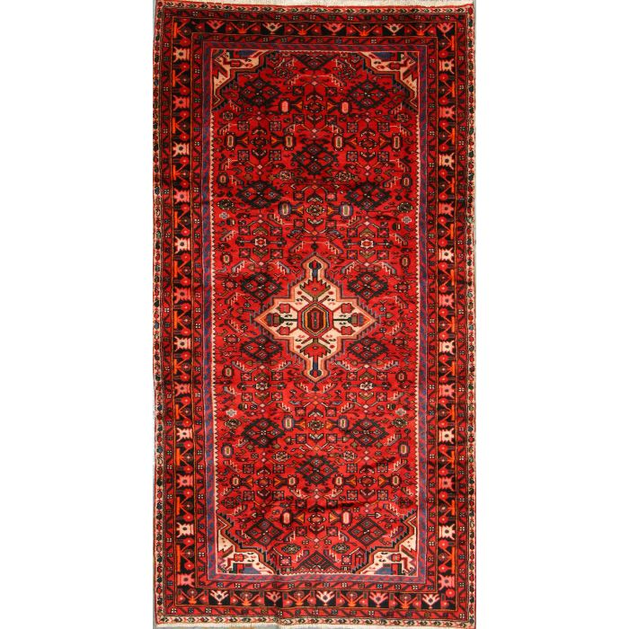 "https://www.armanrugs.com/ | 4' 5"" x 8' 6"" Red Nahavand Hand Knotted Wool Authentic Persian Rug"