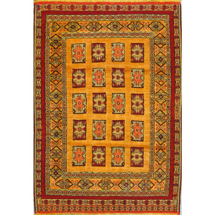 "https://www.armanrugs.com/ | 3' 5"" x 5' 0"" Gold Ghochan Hand Knotted Wool Authentic Persian Rug"