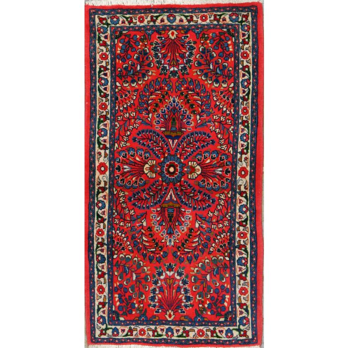 "https://www.armanrugs.com/ | 2' 3"" x 4' 3"" Red Sarough Hand Knotted Wool Authentic Persian Rug"