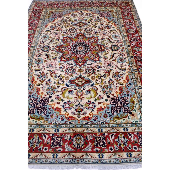"https://www.armanrugs.com/ | 6' 9"" x 10' 0"" Beige Esfahan Handmade Wool Authentic Persian Rug"
