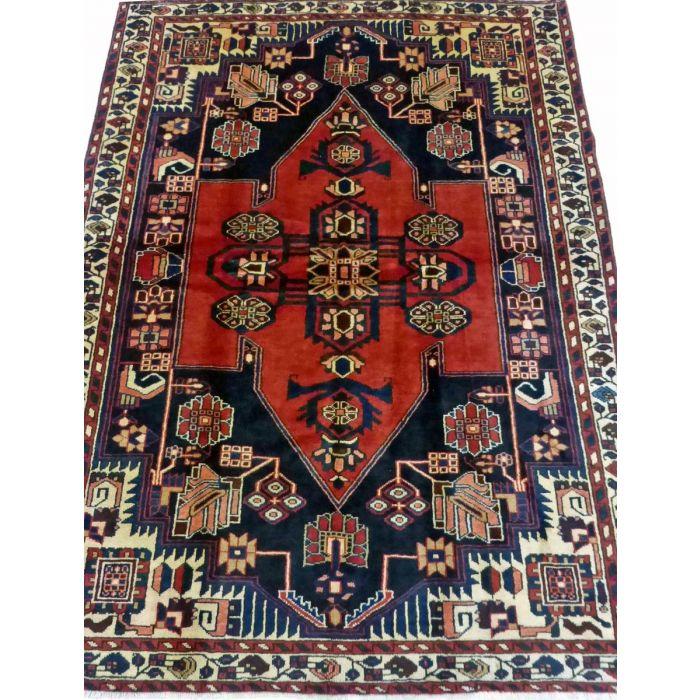 "https://www.armanrugs.com/ | 5' 1"" x 6' 9"" Red Mahal Handmade Wool Authentic Persian Rug"