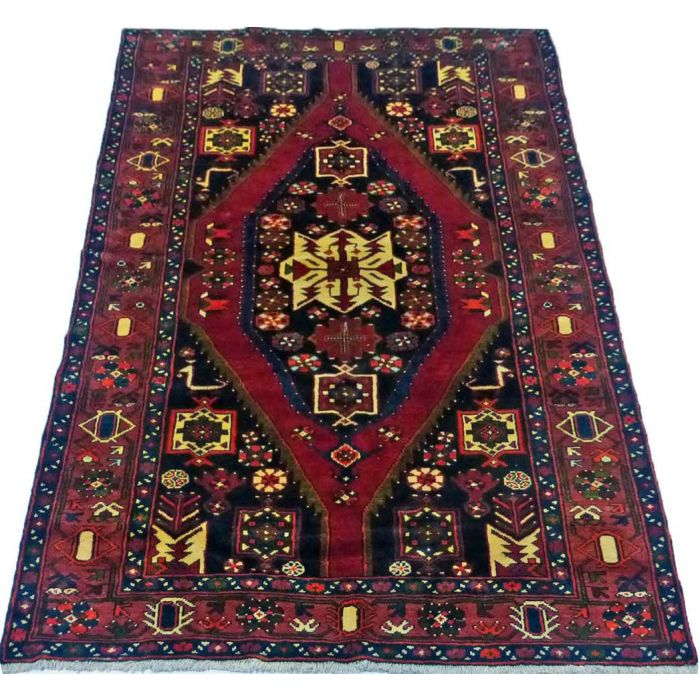 "https://www.armanrugs.com/ | 4' 9"" x 7' 3"" Red Mahal Handmade Wool Authentic Persian Rug"