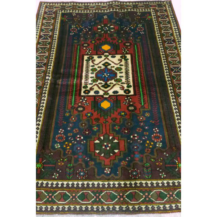 "https://www.armanrugs.com/ | 4' 9"" x 9' 10"" Brown Bakhtiari Handmade Wool Authentic Persian Rug"