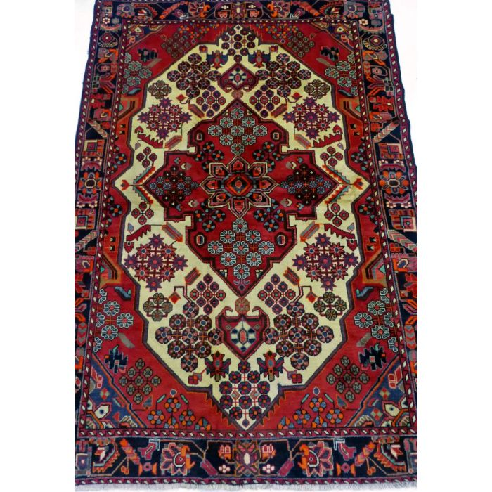 "https://www.armanrugs.com/ | 4' 5"" x 6' 7"" Beige Shiraz Handmade Wool Authentic Persian Rug"
