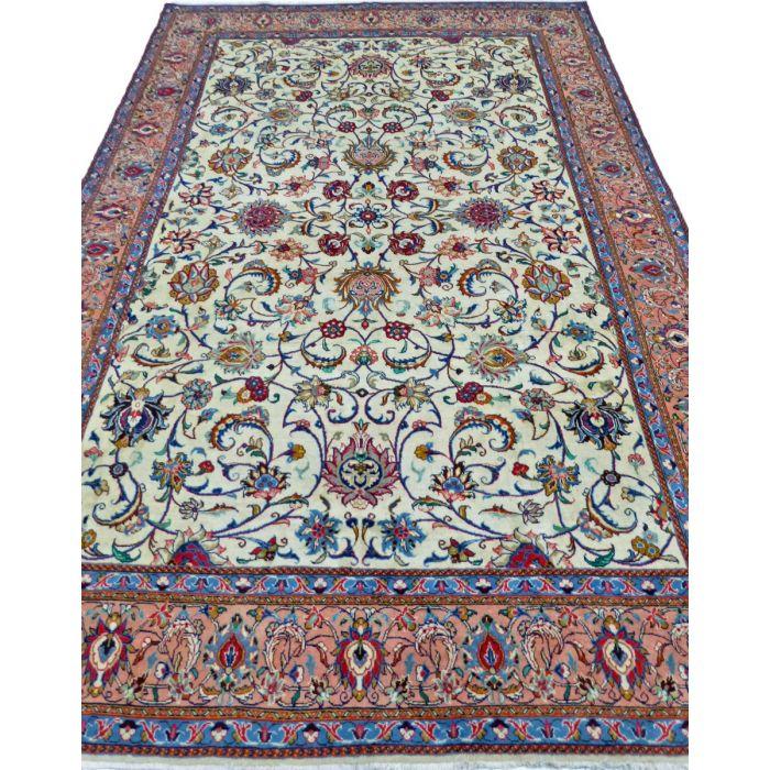 https://www.armanrugs.com/ | 7' 1" x 10' 2" Beige Sarough Handmade Wool Authentic Persian Rug