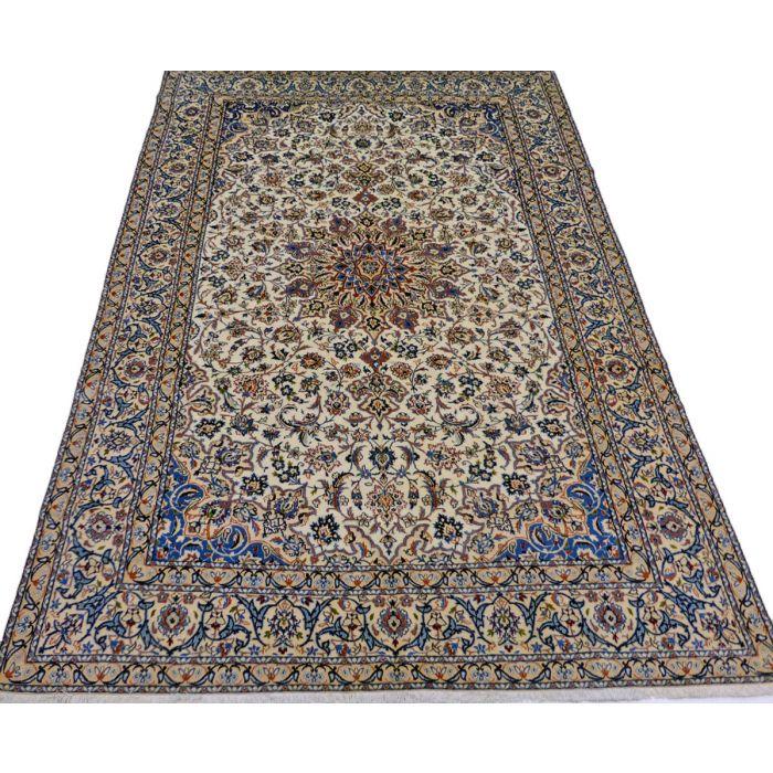 "https://www.armanrugs.com/ | 7' 1"" x 10' 2"" Beige Nain Handmade Wool-Silk Authentic Persian Rug"