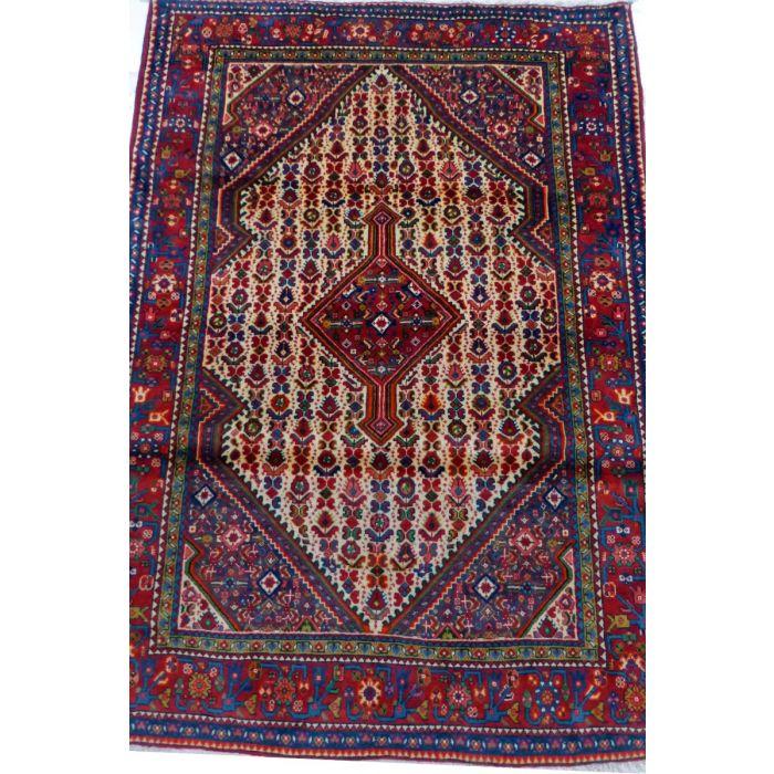 "https://www.armanrugs.com/ | 3' 5"" x 4' 11"" Beige Sarough Handmade Wool Authentic Persian Rug"