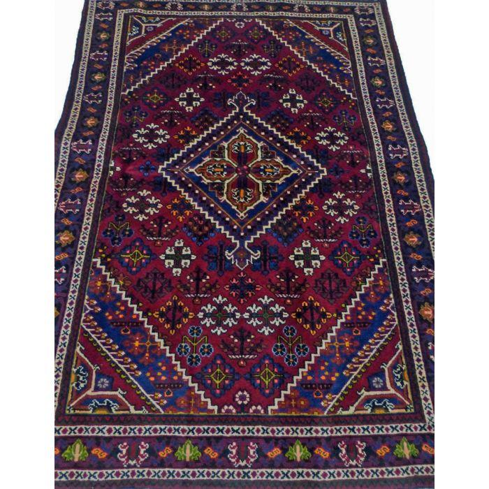 "https://www.armanrugs.com/ | 4' 3"" x 6' 11"" Red Josheghan Handmade Wool Authentic Persian Rug"
