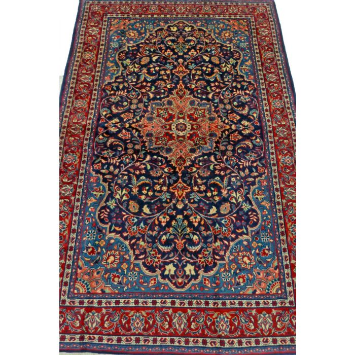 "https://www.armanrugs.com/ | 4' 3"" x 6' 8"" NavyBlue Sarough Handmade Wool Authentic Persian Rug"