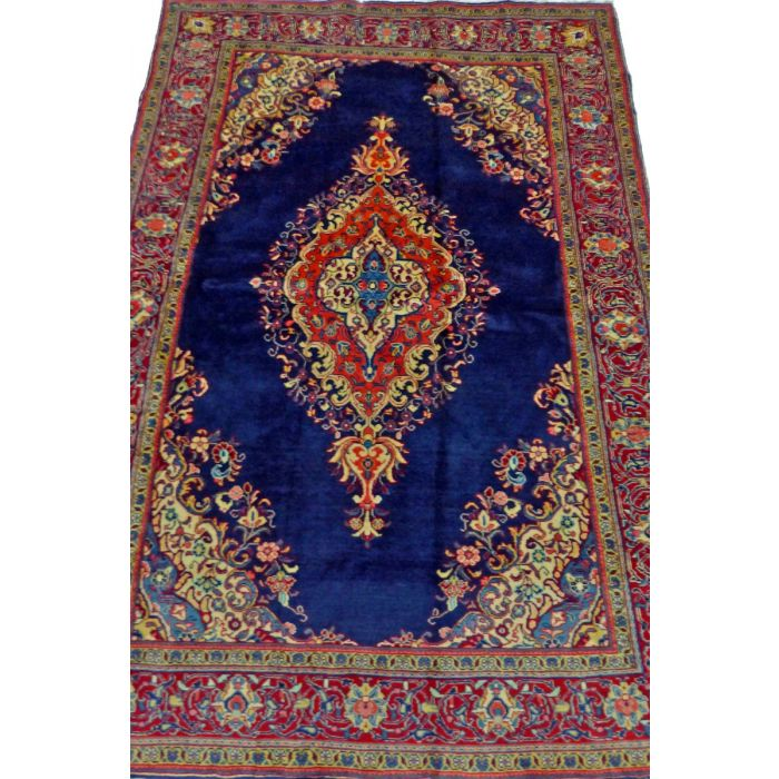 "https://www.armanrugs.com/ | 4' 4"" x 6' 7"" NavyBlue Sarough Handmade Wool Authentic Persian Rug"