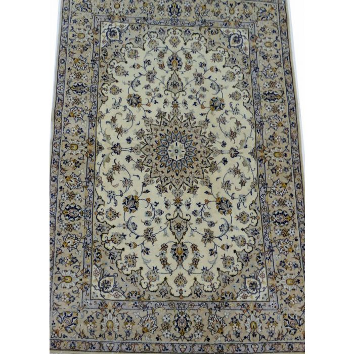 "https://www.armanrugs.com/ | 4' 8"" x 6' 11"" Beige Kashan Handmade Wool Authentic Persian Rug"