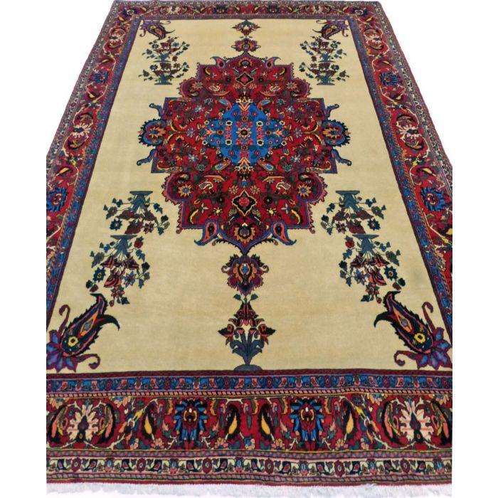 "https://www.armanrugs.com/ | 7' 3"" x 10' 2"" BeigeCamel Bakhtiari Handmade Wool Authentic Persian Rug"
