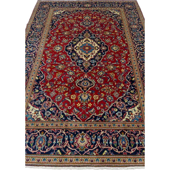 "https://www.armanrugs.com/ | 6' 7"" x 9' 10"" Red Tabriz Handmade Wool Authentic Persian Rug"