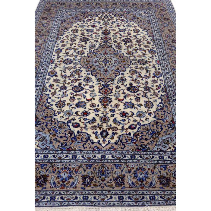 "https://www.armanrugs.com/ | 6' 9"" x 9' 12"" Beige Kashan Handmade Wool Authentic Persian Rug"