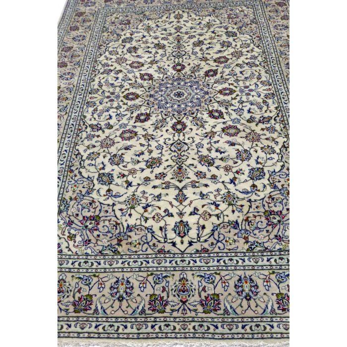 "https://www.armanrugs.com/   6' 7"" x 9' 10"" Beige Kashan Handmade Wool Authentic Persian Rug"