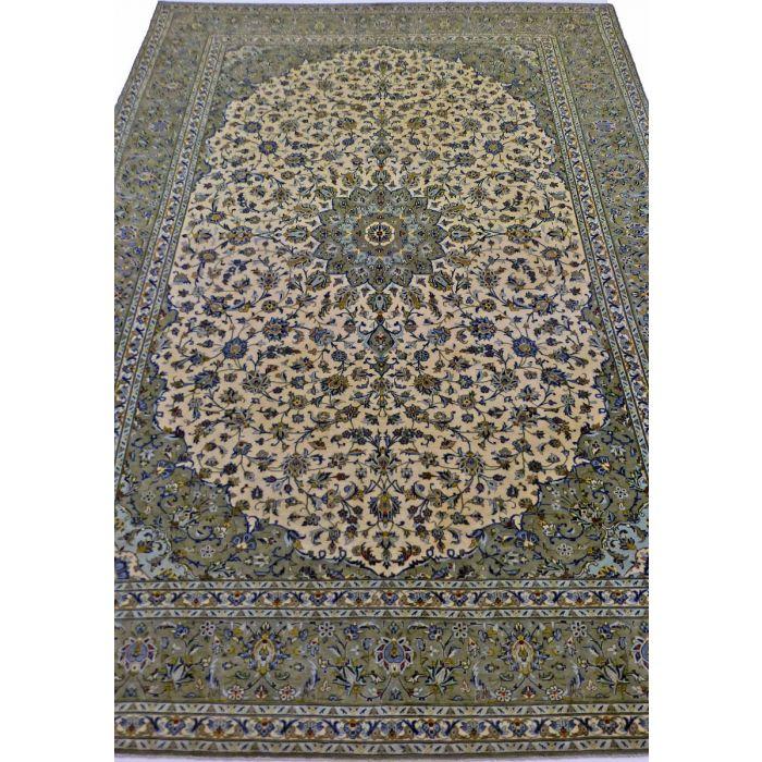 "https://www.armanrugs.com/ | 8' 0"" x 11' 7"" SageGreen Kashan Handmade Wool Authentic Persian Rug"