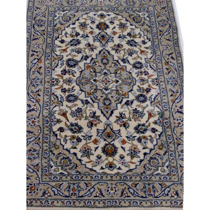 "https://www.armanrugs.com/ | 3' 3"" x 4' 11"" Beige Kashan Handmade Wool Authentic Persian Rug"