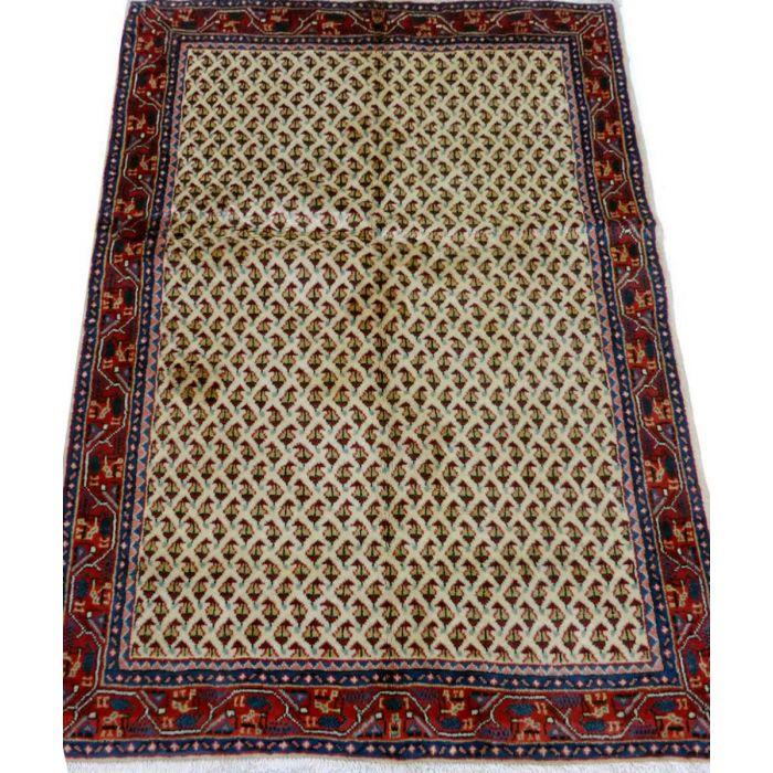 "https://www.armanrugs.com/ | 3' 3"" x 4' 10"" beige Hamadan Handmade Wool Authentic Persian Rug"