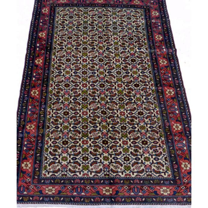 "https://www.armanrugs.com/ | 3' 6"" x 4' 11"" Beige Hamadan Handmade Wool Authentic Persian Rug"