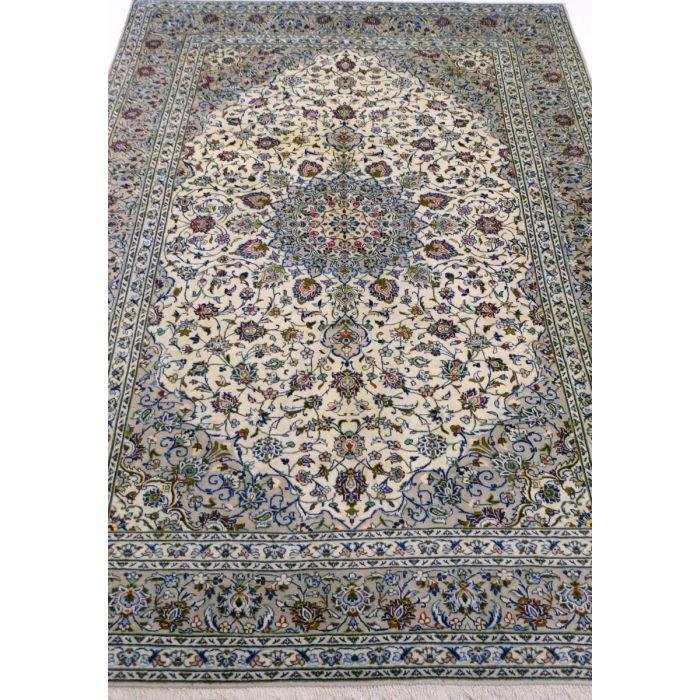 "https://www.armanrugs.com/ | 8' 1"" x 11' 5"" Beige Kashan Handmade Wool Authentic Persian Rug"