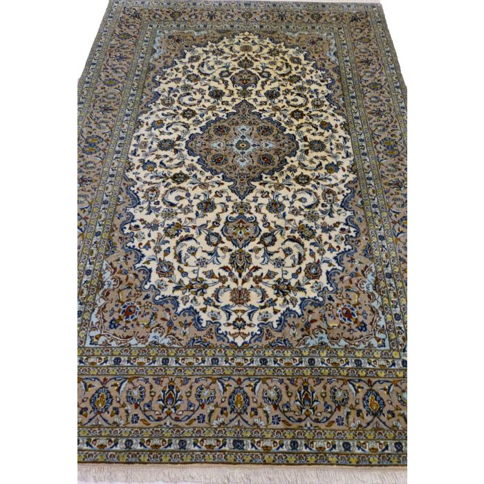"https://www.armanrugs.com/ | 8' 0"" x 11' 10"" Brown Kashan Handmade Wool Authentic Persian Rug"