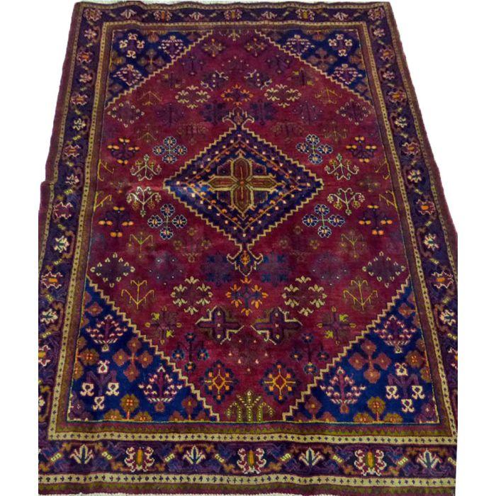 "https://www.armanrugs.com/ | 4' 5"" x 6' 8"" Red Josheghan Handmade Wool Authentic Persian Rug"