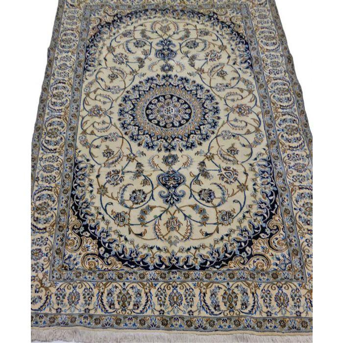 "https://www.armanrugs.com/ | 6' 4"" x 9' 10"" Beige Nain Handmade Wool-Silk Authentic Persian Rug"