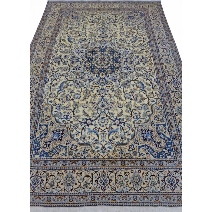 "https://www.armanrugs.com/ | 6' 8"" x 10' 1"" Beige Nain Handmade Wool Authentic Persian Rug"