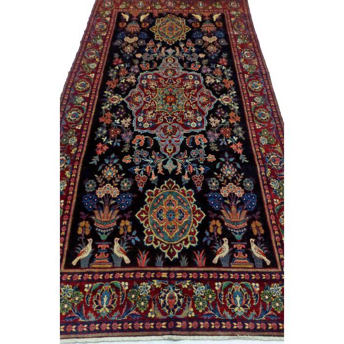 "https://www.armanrugs.com/   6' 7"" x 13' 1"" NavyBlue Hamadan Handmade Wool Authentic Persian Rug"