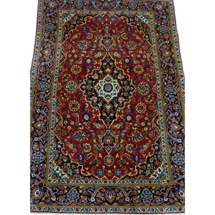 "https://www.armanrugs.com/   4' 6"" x 6' 11"" Red Kashan Handmade Wool Authentic Persian Rug"