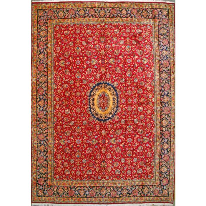 """https://www.armanrugs.com/   11' 11"""" x 16' 5""""  Red kerman Hand Knotted Wool Authentic Persian Rug"""