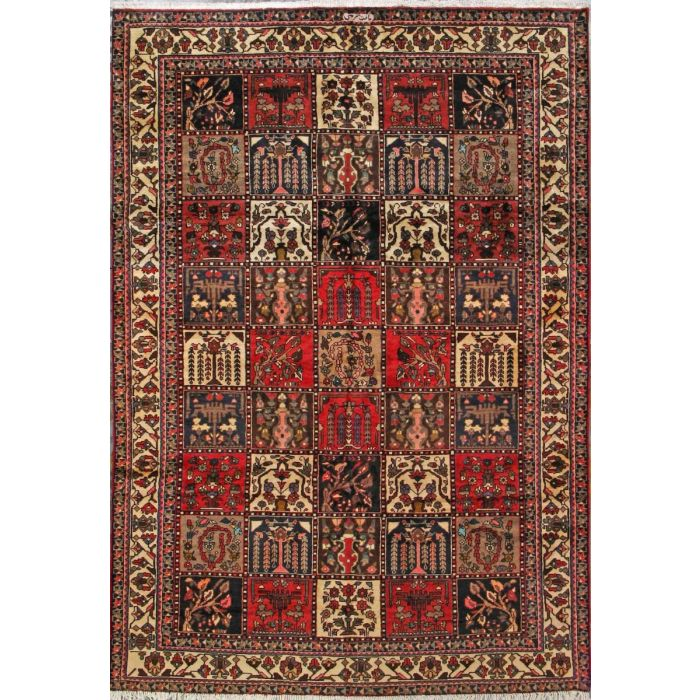 "https://www.armanrugs.com/ | 6' 9"" x 9' 10"" Red Bakhtiari Hand Knotted Wool Authentic Persian Rug"