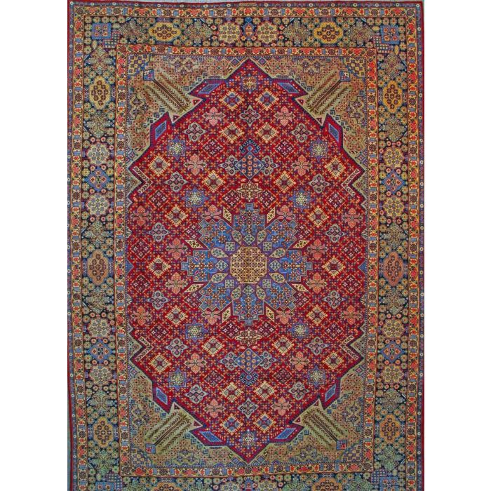 """https://www.armanrugs.com/   13' 1"""" x 19' 4"""" Red Esfahan Hand Knotted Wool Authentic Persian Rug"""