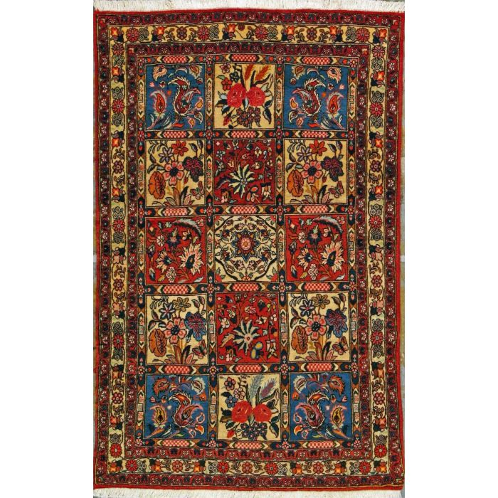 "https://www.armanrugs.com/ | 3' 3"" x 5' 2"" Red Bakhtiari Hand Knotted Wool Authentic Persian Rug"