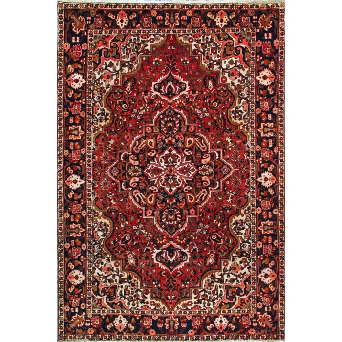 """https://www.armanrugs.com/   6' 9"""" x 10' 0"""" Red Bakhtiari Hand Knotted Wool Authentic Persian Rug"""